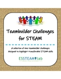 Teambuilder Challenges for STEAM skills