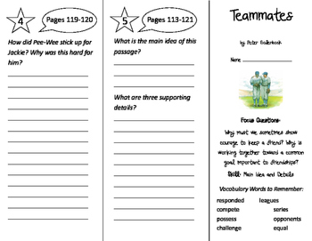 Teammates Trifold - Imagine It 3rd Grade Unit 1 Week 5