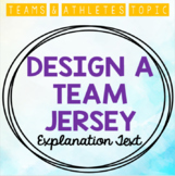 Teams & Athletes: Design a Team Jersey (with Explanation Text)