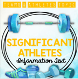Teams & Athletes: Significant Athletes (Information Text)