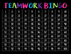 Teamwork Behavior BINGO Classroom Management Tool