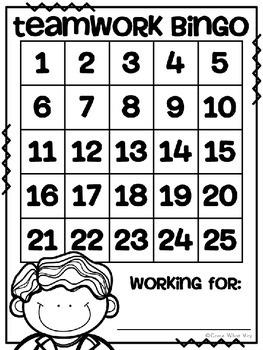Teamwork Bingo
