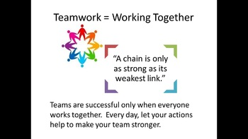 Teamwork Lesson and Team Trivia Game