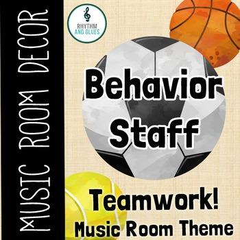 Teamwork Music Room Theme - Behavior Staff, Rhythm and Glues