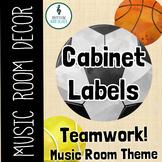Teamwork Music Room Theme - Cabinet Labels, Rhythm and Glues