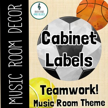 Teamwork Music Room Theme - Cabinet Labels, Rhythm and Glues