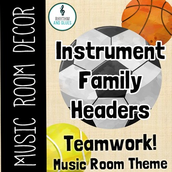 Teamwork Music Room Theme - Instrument Family Headers, Rhyhtm and Glues