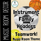 Teamwork Music Room Theme - Instrument Family Headers, Rhy