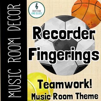 Teamwork Music Room Theme - Recorder Fingerings, Rhythm and Glues