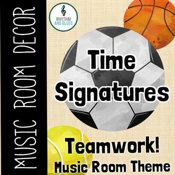 Teamwork Music Room Theme - Time Signatures, Rhythm and Glues