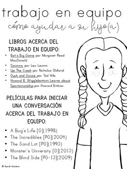Teamwork Parent Letter - SPANISH