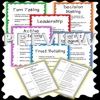 Teamwork Posters and Handout {Interpersonal Skills for Teamwork}