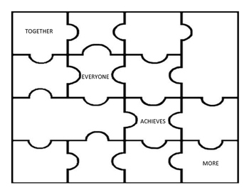 Teamwork Puzzle: Together Everyone Achieves More