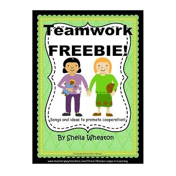 Teamwork Songs and Activities FREEBIE!