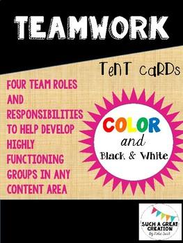 Teamwork Tent Cards