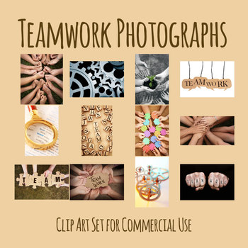 Teamwork Theme Photos / Photograph Clip Art Set for Commercial Use