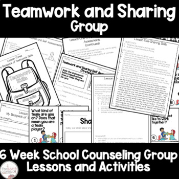 Teamwork and Share Sharing Group Counseling Lessons and Activities