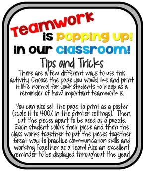 Teamwork is Popping Up! // Team-building Activity for Hollywood Themed Classroom