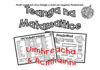 Teanga na Matamatice: Uimhreacha & Acmhainní