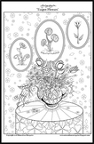 Teapot Flowers - Printable Colouring Page.
