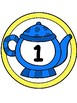 Teapot Table Numbers 1-8