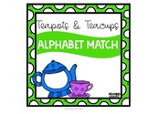 Teapot and Teacup Alphabet Letter Match for Spring