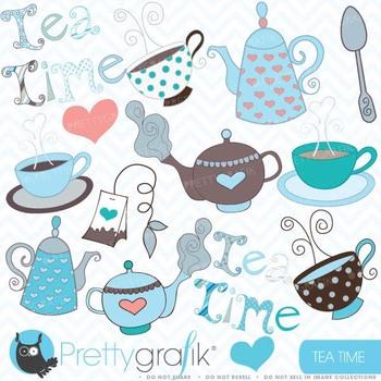 Teapot clipart commercial use, vector graphics, digital clip art - CL406