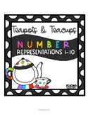 Spring Math Teapots and Teacups Number Representations 1-10