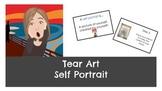 Tear Art Self Portrait