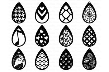 a2b088d4b Tear Drop Earrings SVG, Pendant svg, Earring template cut files | TpT