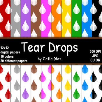 Tear Drops - 20 Digital Papers