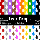 Tear Drops - 20 Digital Papers