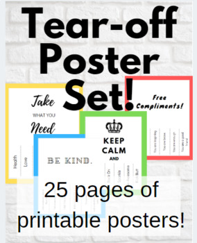 image about Take What You Need Printable named Kindness Mindfulness Poster Established!