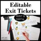 Tear-off Exit Cards for Any Subject (Formative Assessments)