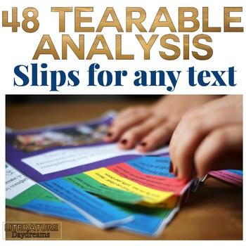Analysis Close Reading Tasks