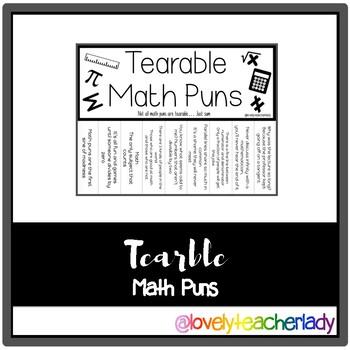 Tearable Math Puns