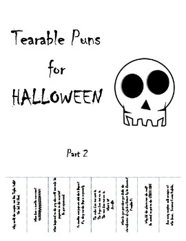 Tearable Puns for HALLOWEEN