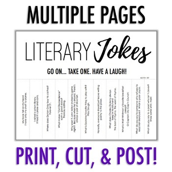 "Tearable ""Take One"" Literature Jokes & Puns"