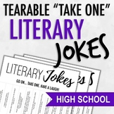 "Tearable ""Take One"" Literature Jokes & Puns"