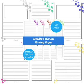 Teardrop Banner Writing Paper