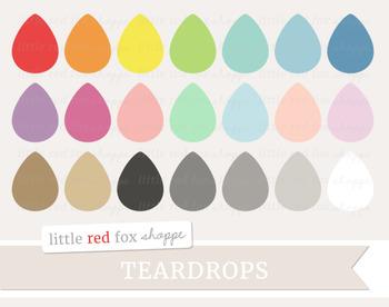 Teardrop Clipart; Raindrop, Rain Drop, Weather