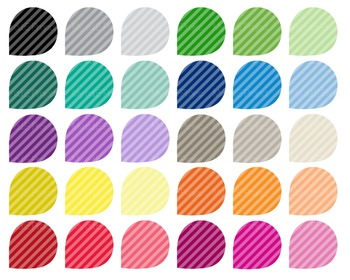 Teardrop Clipart Stripes pattern - 30 colors - 30 PNG files -scrapbooking - CA36