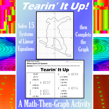 Tearin' It Up - A Math-Then-Graph Activity - Solve 15 Systems