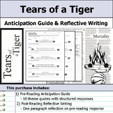 tears of a tiger anticipation guide teaching resources teachers rh teacherspayteachers com Robbie From Tears of a Tiger Tears of a Tiger Quotes