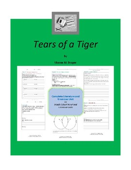 tears of a tiger complete literature and grammar unit tpt tears of a tiger complete literature and grammar unit