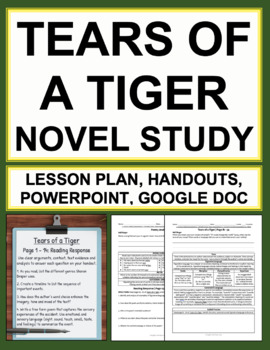 Tears of a Tiger Novel Stud... by Common Core English With Ease ...
