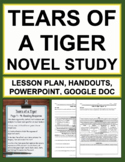 Tears of a Tiger Novel Study Unit Plan & Bundled Lesson Plans