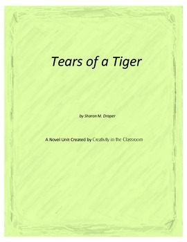 Tears of a Tiger Novel Unit Plus Grammar