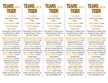 Tears of a Tiger edition of Bookmarks Plus—Great Gift/Handy Reading Aid!
