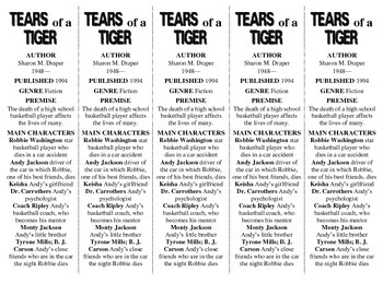Tears of a Tiger edition of Bookmarks Plus—Fun Freebie & A Handy Reading Aid!